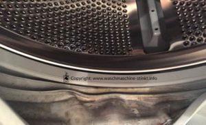 Verdreckter Türgummi - Da hilft nur die Waschmaschine reinigen